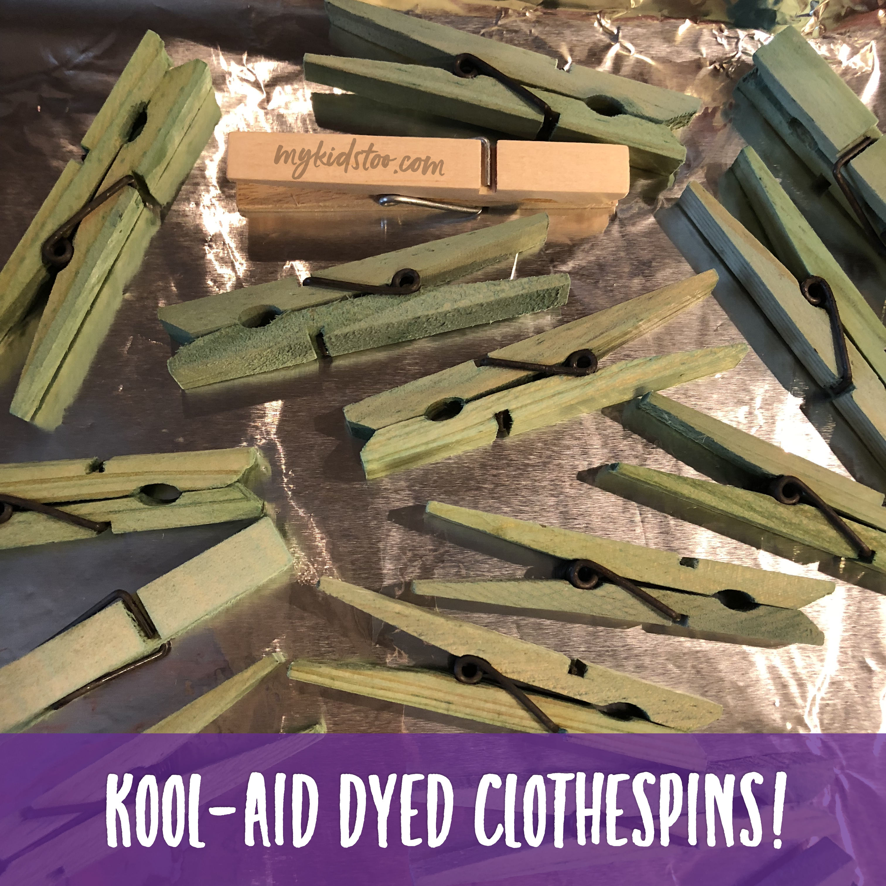 Kool-Aid Dyed Clothespins
